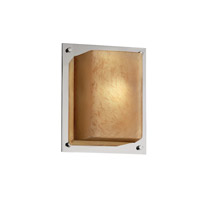Fusion 1 Light 7 inch Polished Chrome ADA Wall Sconce Wall Light in Caramel
