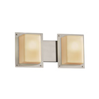 Fusion 2 Light 17 inch Brushed Nickel Bath Light Wall Light in Almond
