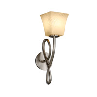Justice Design Fusion Capellini 1-Light Wall Sconce in Brushed Nickel FSN-8911-40-WEVE-NCKL