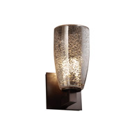 Fusion 1 Light 5 inch Dark Bronze Wall Sconce Wall Light in Mercury Glass, Tall Tapered Cylinder