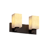 Justice Design FSN-8922-15-DROP-DBRZ Fusion 2 Light 15 inch Dark Bronze Bath Bar Wall Light in Droplet, Square with Flat Rim, Fluorescent photo thumbnail
