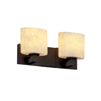 Justice Design Fusion Modular 2-Light Bath Bar in Dark Bronze FSN-8922-30-DROP-DBRZ photo thumbnail