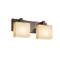 Justice Design FSN-8922-55-DROP-DBRZ Fusion 2 Light 15 inch Dark Bronze Vanity Light Wall Light in 7.25, Droplet, Incandescent, Rectangle thumb
