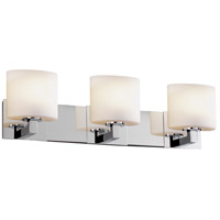 Justice Design Fusion Modular 3-Light Bath Bar in Polished Chrome FSN-8923-30-OPAL-CROM