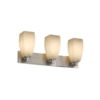 Justice Design Fusion Modular 3-Light Bath Bar in Brushed Nickel FSN-8923-65-WEVE-NCKL