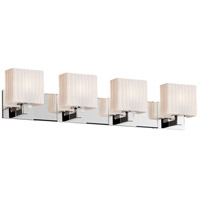Justice Design Group Fusion LED Vanity Light in Polished Chrome FSN-8924-55-RBON-CROM-LED4-2800