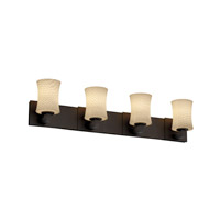 Justice Design Fusion Modular 4-Light Bath Bar in Dark Bronze FSN-8924-60-WEVE-DBRZ