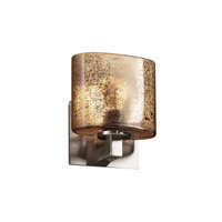 Justice Design Fusion Modular 1-Light Wall Sconce (ADA) in Brushed Nickel FSN-8931-30-MROR-NCKL