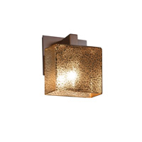 Justice Design FSN-8931-55-MROR-DBRZ Fusion 1 Light 6 inch Dark Bronze ADA Wall Sconce Wall Light in Mercury Glass, Rectangle, Incandescent photo thumbnail
