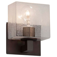 Justice Design FSN-8931-55-SEED-DBRZ Fusion 1 Light 7 inch Dark Bronze ADA Wall Sconce Wall Light in Rectangle, Incandescent, Seeded photo thumbnail