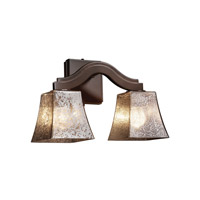 Justice Design FSN-8975-40-MROR-DBRZ Fusion 2 Light 16 inch Dark Bronze Wall Sconce Wall Light in Mercury Glass, Square Flared, Fluorescent photo thumbnail