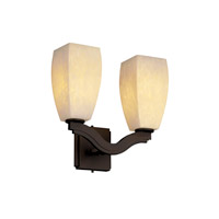 Justice Design Fusion Bend 2-Light Wall Sconce (Style 2) in Dark Bronze FSN-8975-65-DROP-DBRZ