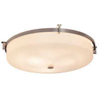 Justice Design FSN-8987-OPAL-CROM Fusion 3 Light 21 inch Polished Chrome Flush Mount Ceiling Light