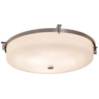 Justice Design FSN-8988-MROR-CROM Fusion LED 21 inch Polished Chrome Flush Mount Ceiling Light in Mercury Glass