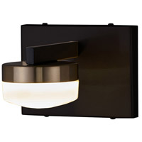 Justice Design FSN-8991-OPAL-MBBR EVOLV LED 6 inch Matte Black with Brass Accents Wall Sconce Wall Light in Matte Black / Brass Ring, Puck Family