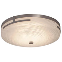 Justice Design FSN-8995-WEVE-NCKL Fusion LED 14 inch Brushed Nickel Flush Mount Ceiling Light