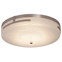 Justice Design FSN-8998-WEVE-CROM Fusion LED 19 inch Polished Chrome Flush Mount Ceiling Light in Weave
