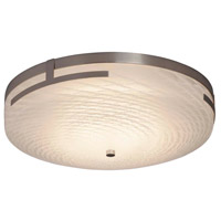 Justice Design FSN-8998-WEVE-NCKL Fusion LED 19 inch Brushed Nickel Flush Mount Ceiling Light