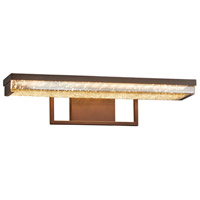 Justice Design FSN-9071-MROR-DBRZ Fusion Elevate LED 20 inch Dark Bronze Vanity Light Wall Light