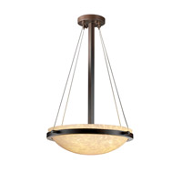 Fusion 3 Light Dark Bronze Pendant Bowl Ceiling Light in Droplet