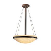 Justice Design FSN-9691-35-DROP-DBRZ-LED3-3000 Fusion LED 18 inch Dark Bronze Pendant Ceiling Light in 3000 Lm LED, Droplet