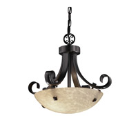 Justice Design Signature 2 Light Pendant in Matte Black FSN-9740-35-DROP-MBLK-F3-LED-2000