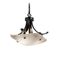 Justice Design Signature 2 Light Pendant in Matte Black FSN-9750-25-OPAL-MBLK-F3