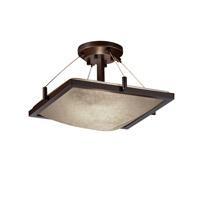 Justice Design FSN-9780-25-MROR-NCKL-LED2-2000 Fusion LED 16 inch Brushed Nickel Semi-Flush Ceiling Light in Mercury Glass, 2000 Lm LED