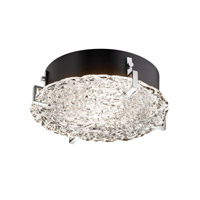 Justice Design Signature Flush Mount in Polished Chrome GLA-5545-LACE-CROM-LED-2000