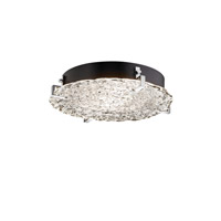 Justice Design GLA-5547-LACE-MBLK-LED3-3000 Veneto Luce LED 17 inch Matte Black Flush Mount Ceiling Light in 3000 Lm LED photo thumbnail