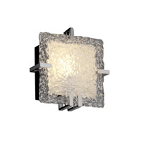Justice Design Veneto Luce Clips Square Wall Sconce (Ada) in Black Nickel GLA-5550-LACE-BLKN photo thumbnail