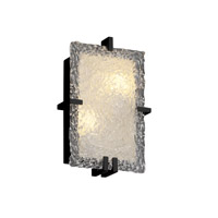 Justice Design Veneto Luce Clips Rectangle Wall Sconce (Ada) in Matte Black GLA-5551-LACE-MBLK