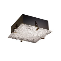 Justice Design GLA-5555-LACE-DBRZ Veneto Luce 2 Light 13 inch Dark Bronze Flush-Mount Ceiling Light
