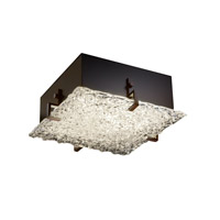Justice Design GLA-5557-LACE-DBRZ Veneto Luce 4 Light 17 inch Dark Bronze Flush-Mount Ceiling Light