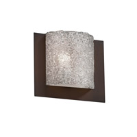 Justice Design Veneto Luce Framed Square 3-Sided Wall Sconce (Ada) in Dark Bronze GLA-5560-LACE-DBRZ
