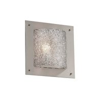 Justice Design Veneto Luce Framed Square 4-Sided Wall Sconce (Ada) in Brushed Nickel GLA-5561-LACE-NCKL