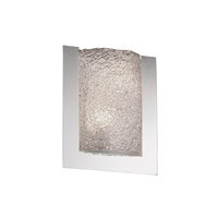 Justice Design Veneto Luce Framed Rectangle 3-Sided Wall Sconce (Ada) in Polished Chrome GLA-5562-LACE-CROM