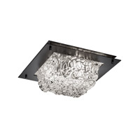Justice Design Signature 2 Light Flush Mount in Matte Black GLA-5565-LACE-MBLK