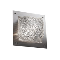 Justice Design Signature 2 Light Wall Sconce in Brushed Nickel GLA-5565-LACE-NCKL