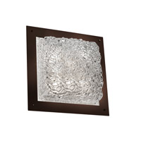 Justice Design Signature 4 Light Wall Sconce in Dark Bronze GLA-5567-LACE-DBRZ