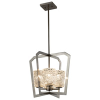 Justice Design GLA-8014-16-CLRT-NCKL Veneto Luce 4 Light 18 inch Chandelier Ceiling Light in Brushed Nickel, Clear Textured (Veneto Luce), Incandescent photo thumbnail