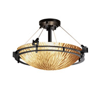 Justice Design GLA-8111-35-AMBR-CROM-LED3-3000 Veneto Luce LED 22 inch Polished Chrome Semi-Flush Ceiling Light