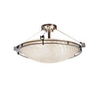 Metropolis 6 Light 28 inch Brushed Nickel Semi-Flush Ceiling Light in Whitewash (Veneto Luce)