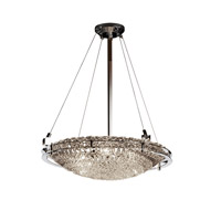 Justice Design Metropolis 6 Light Pendant in Polished Chrome GLA-8122-35-LACE-CROM