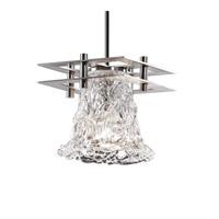 Justice Design GLA-8165-20-LACE-NCKL-BKCD-LED1-700 Veneto Luce LED 7 inch Brushed Nickel Pendant Ceiling Light, Metropolis
