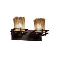 Justice Design Metropolis 2 Light Vanity Light in Dark Bronze GLA-8172-26-AMBR-DBRZ
