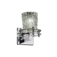 Justice Design Veneto Luce 1 Light Wall Sconce in Polished Chrome GLA-8271-16-CLRT-CROM