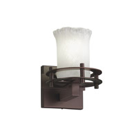Justice Design Veneto Luce 1 Light Wall Sconce in Dark Bronze GLA-8271-16-WTFR-DBRZ