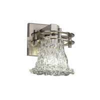 Veneto Luce 1 Light 7 inch Brushed Nickel Wall Sconce Wall Light in Lace (Veneto Luce), Round Flared