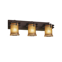Justice Design Veneto Luce 3 Light Bath Light in Dark Bronze GLA-8273-16-GLDC-DBRZ